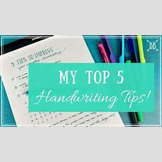 5 Tips To Improve Your Everyday Handwriting Youtube