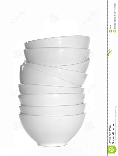 white stacked stacked white bowls royalty free stock photo image 4545