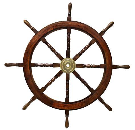 nave volante volante della nave legno ottone ruota barca 106 centimetri