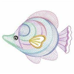 Rippled Neon Fish Embroidery Designs Machine Embroidery