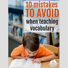 Mistakes To Avoid When Teaching Vocabulary  The Measured Mom