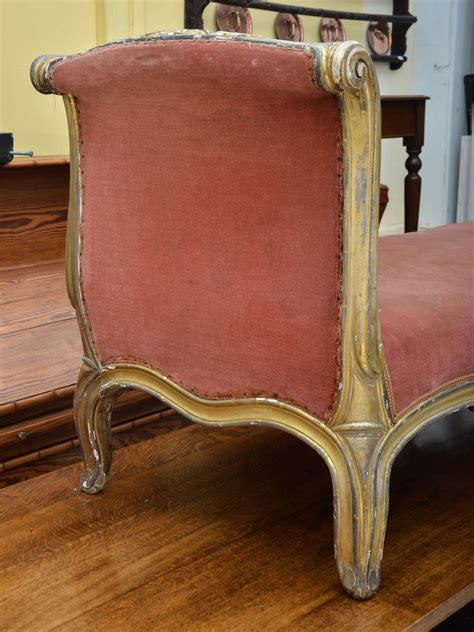 chaise louis 15 gilt louis xv style chaise longue at 1stdibs