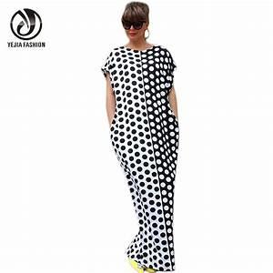 YEJIA FASHION Plus Size Boho Summer Dress Short Sleeve O ...