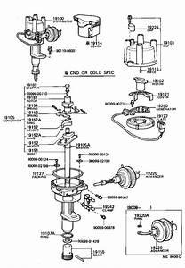 Toyota Corolla Distributor Cap  Usa  Ignition  Engine