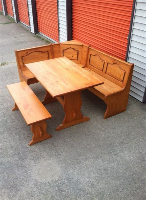 table  storage bench breakfast nook table