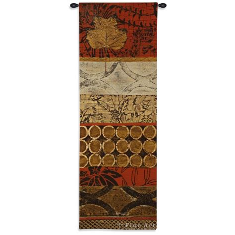 autumn fusion i contemporary tapestry wall hanging abstract modern design h62 quot x w21 quot