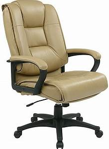 Leather, High, Back, Chair, With, Padded, Loop, Arms