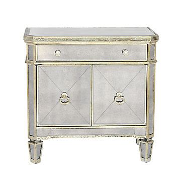 z gallerie glass dresser mirrored nightstand borghese collection z gallerie