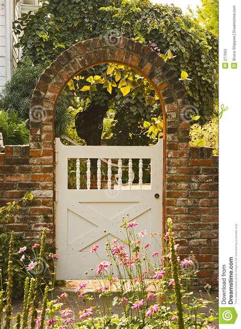 garden gate stock image image  victorian brick