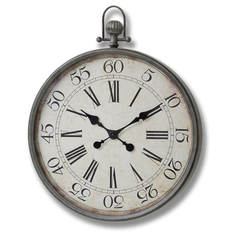 pocket wall clock stylish wall clock in the shape of a traditional pocket watch from hill interiors