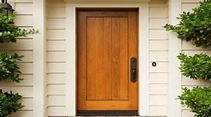 prix d39une porte d39entree bois cout moyen tarif de pose With pose d une porte d entree en bois