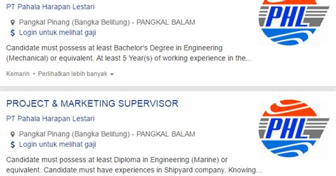 info terbaru lowongan kerja kabupaten belitung