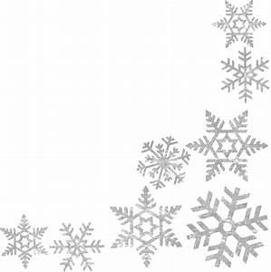Snowflakes border frame PNG image