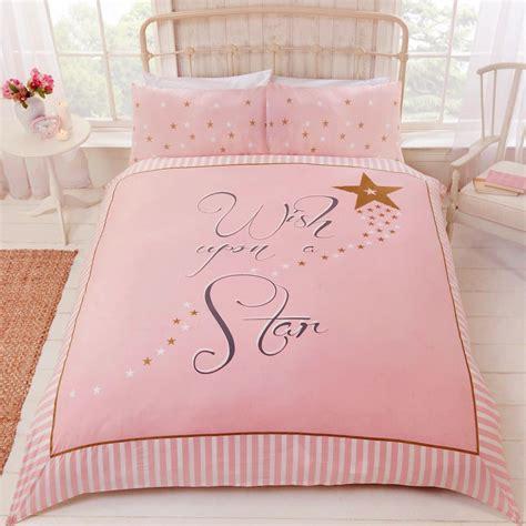 gold star duvet cover wish upon a star duvet cover set pink gold stars girls