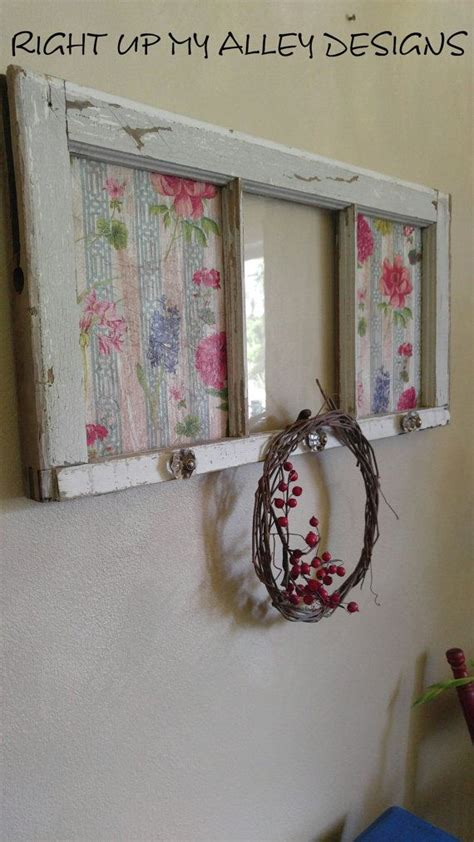 Shutters & paned frame perfection for your rustic or modern decor. This 3 pane window art would fit nicely with a shabby chic or bohemian decor. The end panes ...