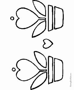 Printable Valentine Flower Coloring Pages - 010