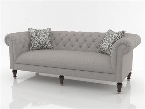 Chesterfield sofa 3d model   Bassett