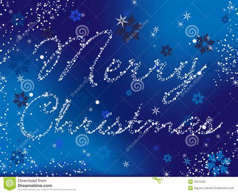 merry christmas blue stock photography image