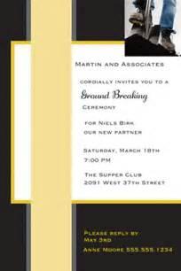 grand opening invitations  ground breaking invitations