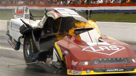 Nhra's Tim Wilkerson's Funny Car Engine Explodes