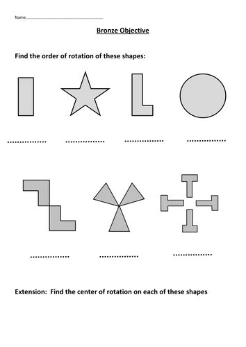 rotational symmetry by mattsteel87 teaching resources