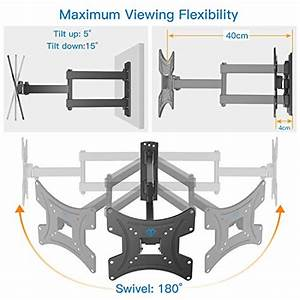 Tv Wall Bracket  Swivels Tilts Extends Tv Mount For 13