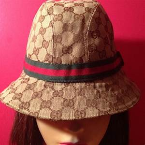 056f2ed7a16 41 off gucci accessories gucci original gg canvas fedora bucket hat from  nia 39 s closet on