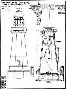 lighthouse plans midsize   tall wood diy