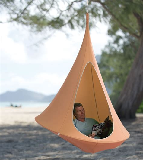 Enclosed Hammock by Rock Sway In A Hanging Cocoon Things