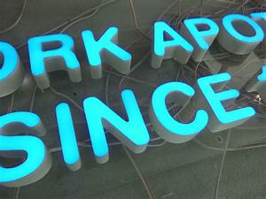 job reference arcadialed With small plastic letters for signs