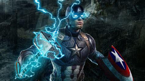 wallpaper  captain america  avengers endgame hd