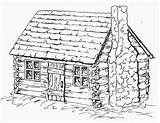 Cabin Log Coloring Cabins Drawing Sheets Pages Draw Printable Patterns Adult Drawings Sketches Houses Wood Burning Detailed Colonial Bing Books sketch template