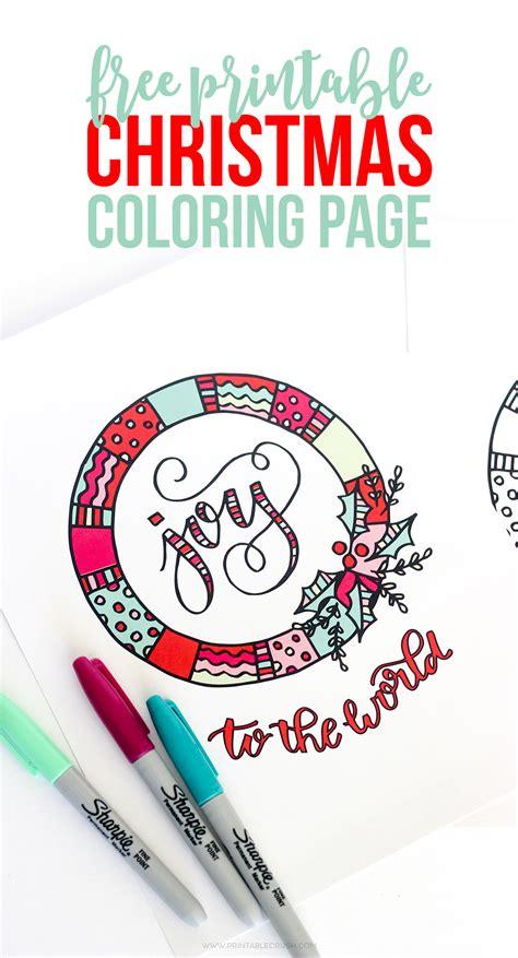 printable christmas coloring page