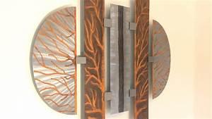 Abstrakte kunst aus metall moderne wandbilder f r den for Wandbilder 4 teilig