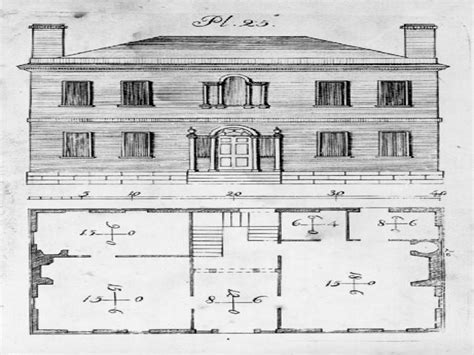 historic federal style house plans  house styles historic home designs treesranchcom