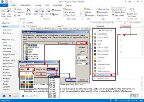 outlook organization tips  ways  tame  email pile pcworld