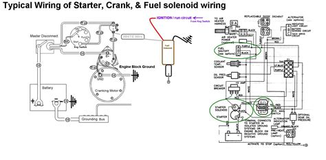 Starter Crank Fuel Shutoff Solenoid Wiring Seaboard