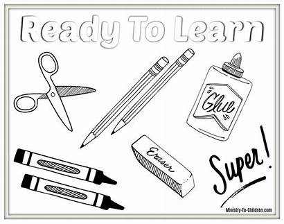 Coloring Supplies Pages Pdf Ready Learn Students