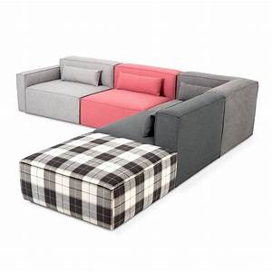 Mix modular 5 pc sectional sectionals gus modern for Q couch modular sofa