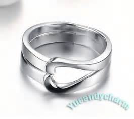 sell my wedding ring made in korea matching rings set white gold plated new ebay