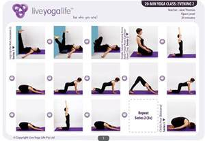20 minute evening class 2 restorative sequences and