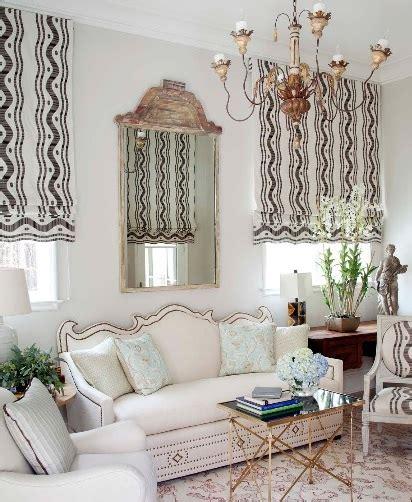 window treatment ideas  living room  elegant scheme