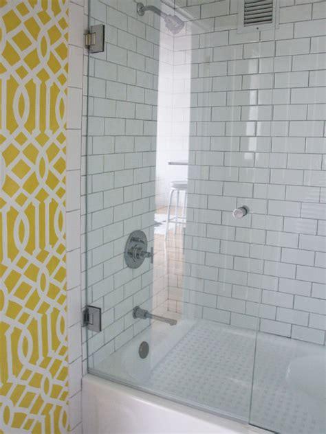 quatrefoil wall stencil contemporary bathroom