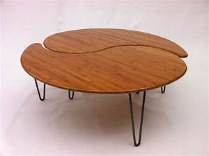 yin yang nesting large round coffee table mid century modern With mid century nesting coffee tables