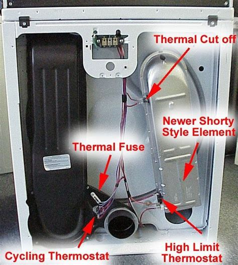 dryer heating element part thermostat dryers whirlpool kenmore roper thermofuse parts