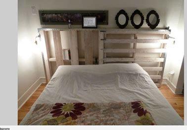 deco chambre avec palette lit et tete de lit palette bois