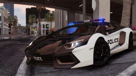 Lamborghini Aventador Police (automatic Spoiler) (v60