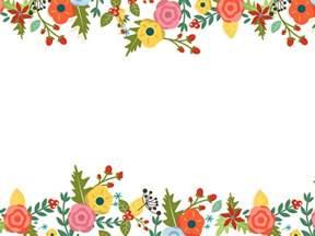 Cute Flower Border Template