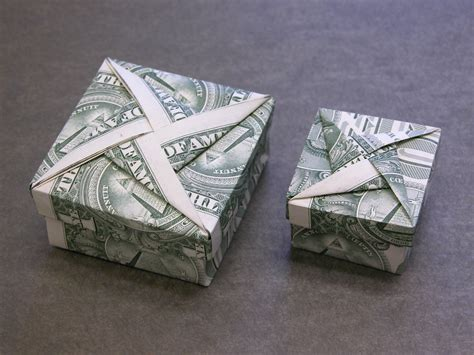Origami Box Falten by Dollar Money Origami Box With Cover Geldgeschenke