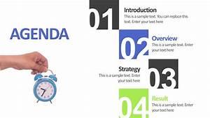 4 Step Meeting Agenda Slide Powerpoint Template